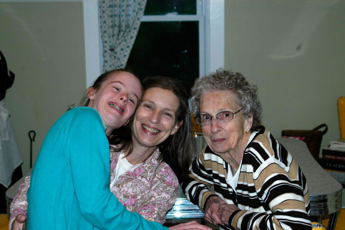 Three generations of giggle sisters.
