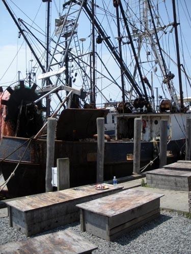 The big old boat at the dock in Menemsha